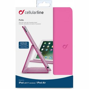 Cellularline Folio 24,6 cm (9.7'') Folioblad Roze