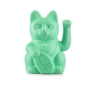 Lucky cat Mint Green (waving cat)
