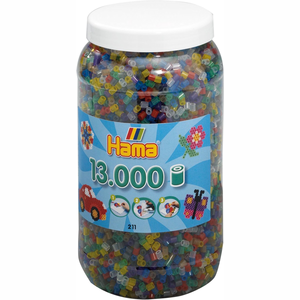 Hama Strijkkralen in Pot - Transparantmix (053), 13.000st.