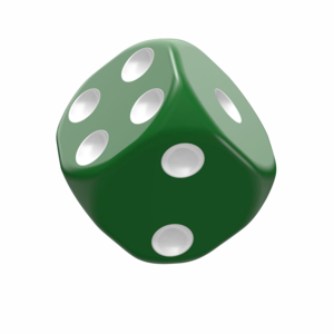 Dice D6 Dice 16 mm Solid - Green (12)