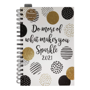 Agenda - On the dot - Do more of what makes you sparkle - Ringband  - 15 maanden