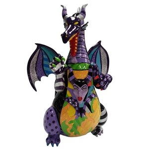 """Disney by Britto Maleficent Dragon from """"Sleeping Beauty"""" Stone Resin Figurine"""