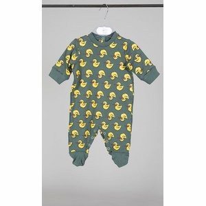 Happy People Baby Pyjama: Relax Paperelle ( Antraciet / geel )
