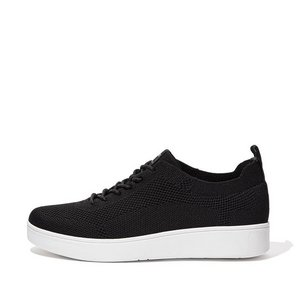 FitFlop Lage Sneakers DR4 Rally Tonal Knit Black