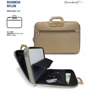 "Bombata Laptoptas Business 15,6"" nylon taupe"