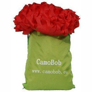 CamoBob camouflagenet rood  large 360x360cm
