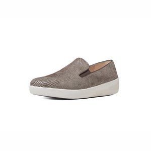 FitFlop Superskate loafer lizard print E05/chocolate