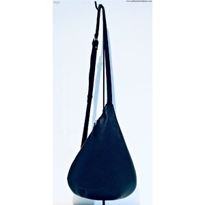 La Pomme Cross-over Bag 903 Large Leather Black