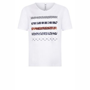 Zoso T-Shirt Mabel Wit Summer Red