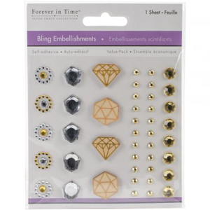Forever in Time - Embellishments Diamant - Stickers