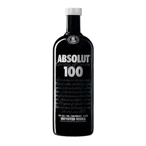 Absolut 100 proof 50° 1L