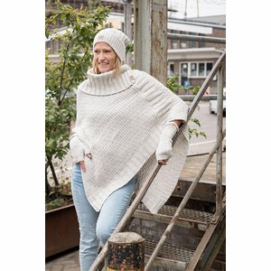 Poncho Nicky Knit Factory Beige