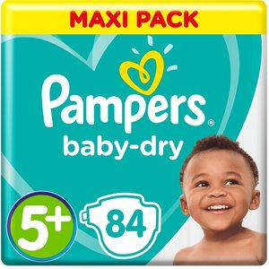 Pampers nr5+ Baby-dry 84x