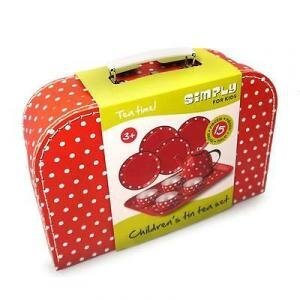 Simply for Kids - Theeservies - Rood met witte stippen
