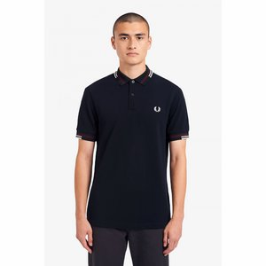 Abstract Tipped Polo Shirt Fred Perry