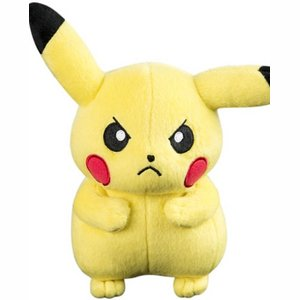 Tomy Officially Licensed Pokemon Angry Pikachu 20cm Plush - Toy