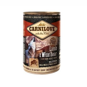 Carnilove into the wild blikvoeding pakket 6 x 400 gram