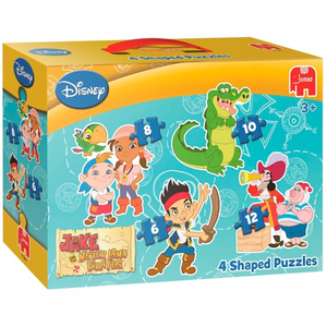Jumbo Jake & The Neverland Pirates 4in1 - Gevormde Puzzel - 6,8,10 en 12 stukjes