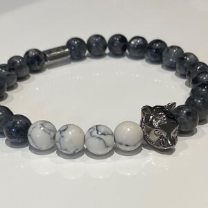 Wolf Bracelet (White Marble Special)