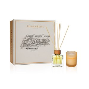 Mandarine Fragrance Sticks and Scented Candle Giftset