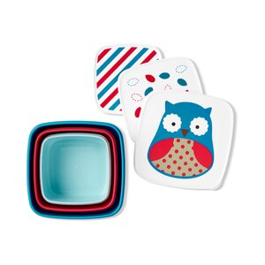 Skip*Hop Zoo Snack Containers (set of 3) Owl