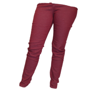 H20 Italia Jeans broek  Joy 003 ,Super high , slim fit Bordeau gespikkeld