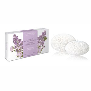 L'Erboristica Luxury scented soaps: Box with 2 soaps 150 gr. Lilac Flowers