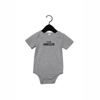 Club amour Baby romper 3-6M Heather grey