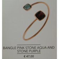 Armband Pink Stone Aqua and Stone Purple
