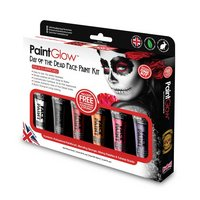 PaintGlow Day of the Dead face paint boxset