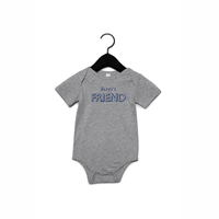 Daddy's friend romper 3-6M Heather grey