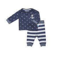 Jongens Baby Pyjama Lounge Set Charlie Choe Under the Sea - Familie Thema