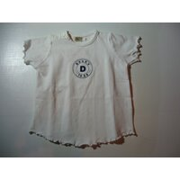 Witte t-shirt doggy 80/12m