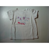 Witte t-shirt doggy 86/18m