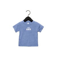 More amor baby t-shirt 3-6M Heather blue